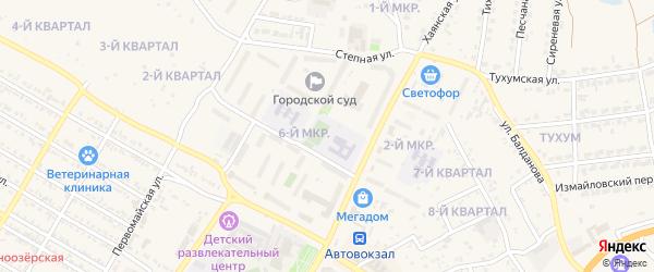 6-й микрорайон на карте Гусиноозерска с номерами домов