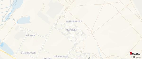 Карта Мирного поселка города Гусиноозерска в Бурятии с улицами и номерами домов