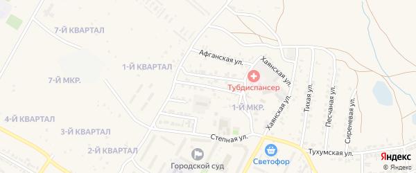Загустайская улица на карте Гусиноозерска с номерами домов