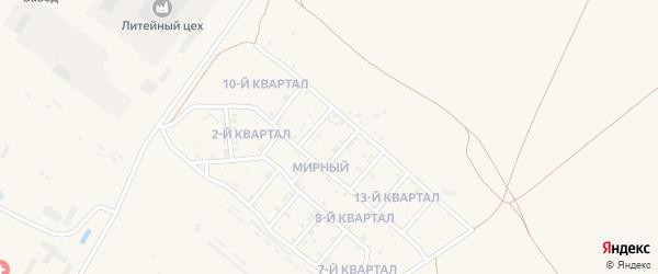 12-й квартал на карте Мирного поселка с номерами домов