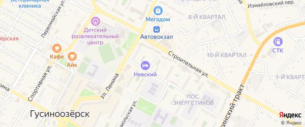 Улица Гагарина на карте Гусиноозерска с номерами домов
