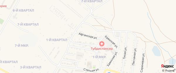 Афганская улица на карте Гусиноозерска с номерами домов