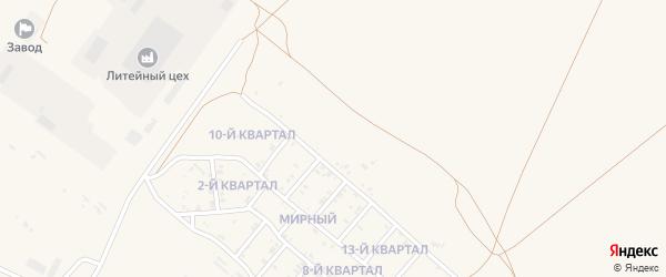 14-й квартал на карте Мирного поселка с номерами домов