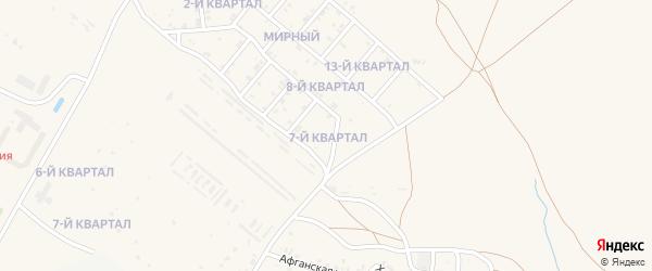 7-й квартал на карте Мирного поселка с номерами домов