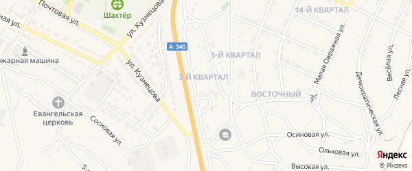 3-й квартал на карте Восточного поселка с номерами домов