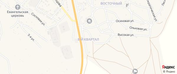 8-й квартал на карте Восточного поселка с номерами домов