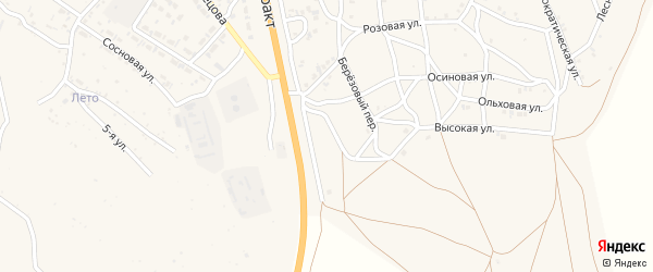 8-й квартал на карте Солнечного поселка с номерами домов