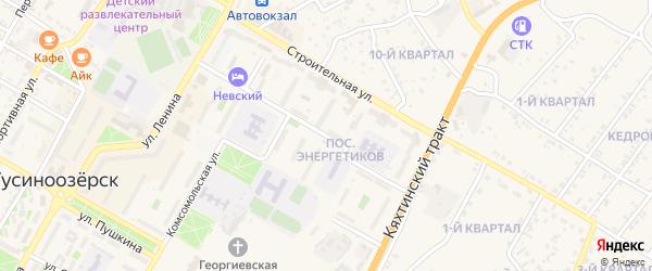 Ключевская улица на карте Гусиноозерска с номерами домов