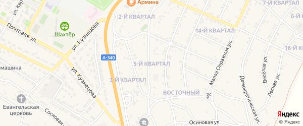 5-й квартал на карте Восточного поселка с номерами домов