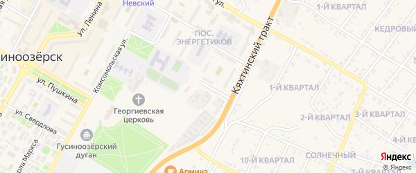 Магистральная улица на карте Гусиноозерска с номерами домов