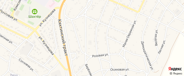 5-й квартал на карте Солнечного поселка с номерами домов