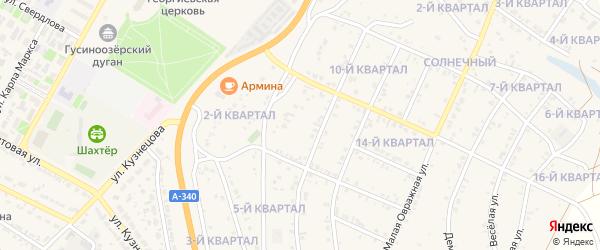 4-й квартал на карте Кедрового поселка с номерами домов