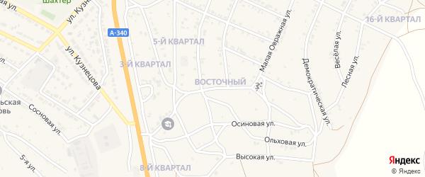 Розовая улица на карте Гусиноозерска с номерами домов