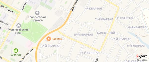 9-й квартал на карте Солнечного поселка с номерами домов