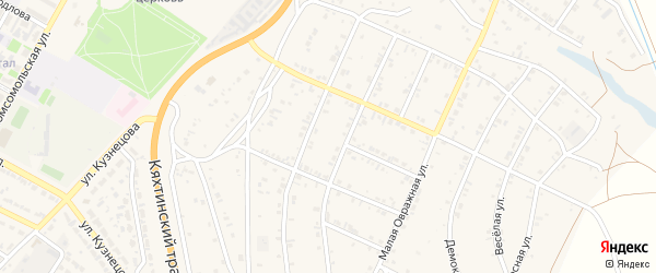 6-й квартал на карте Мирного поселка с номерами домов