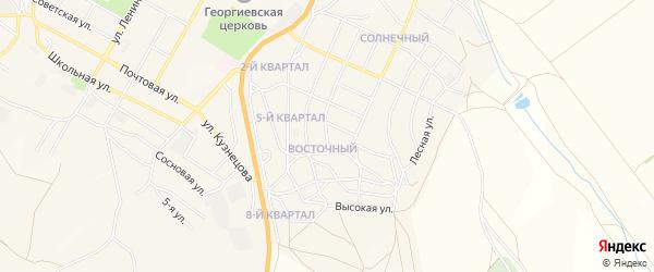 Карта Восточного поселка города Гусиноозерска в Бурятии с улицами и номерами домов