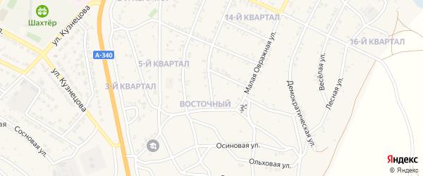 Розовая улица на карте Восточного поселка с номерами домов