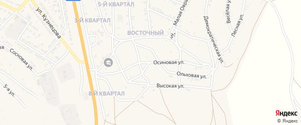 Березовая улица на карте Восточного поселка с номерами домов