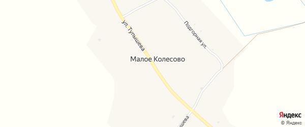 Улица Тупышева на карте села Малое Колесово с номерами домов