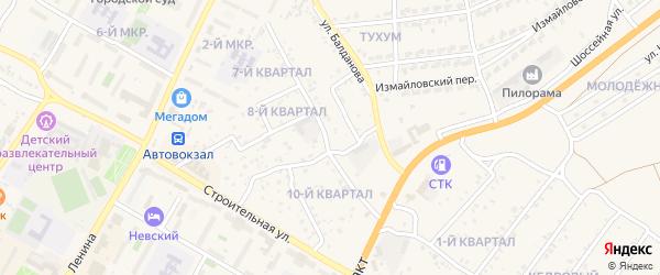 Полынная улица на карте поселка Тухума с номерами домов