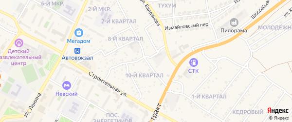 Улица Тучинова на карте поселка Тухума с номерами домов