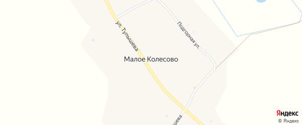 Подгорная улица на карте села Малое Колесово с номерами домов