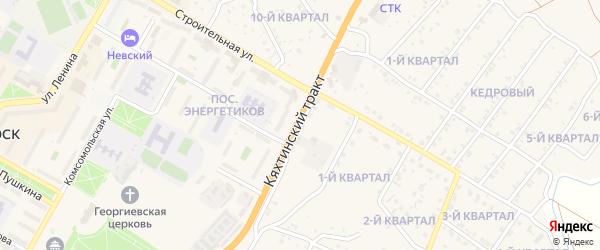 Дорожная улица на карте Гусиноозерска с номерами домов