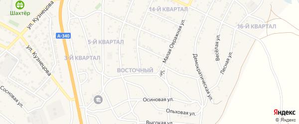 10-й квартал на карте Восточного поселка с номерами домов