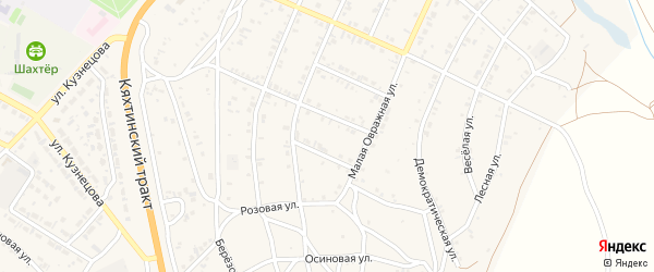 11-й квартал на карте Восточного поселка с номерами домов