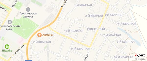 10-й квартал на карте Солнечного поселка с номерами домов