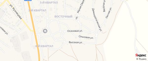 Осиновая улица на карте Восточного поселка с номерами домов