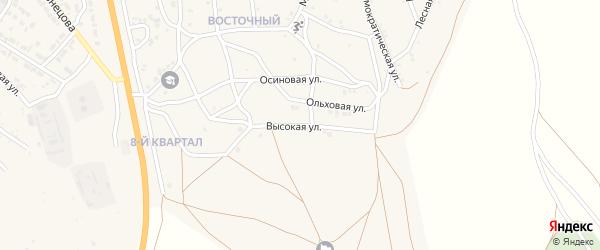 Высокая улица на карте Гусиноозерска с номерами домов