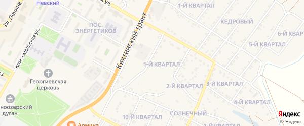 1-й квартал на карте Солнечного поселка с номерами домов