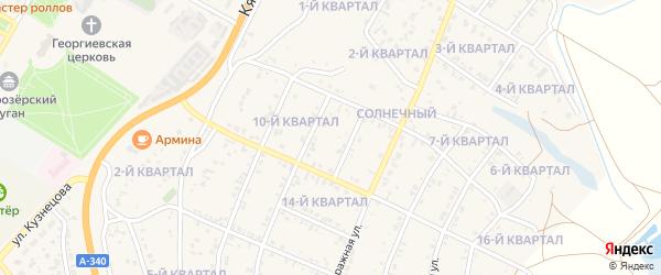 11-й квартал на карте Солнечного поселка с номерами домов