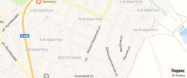 Малая овражная улица на карте Восточного поселка с номерами домов