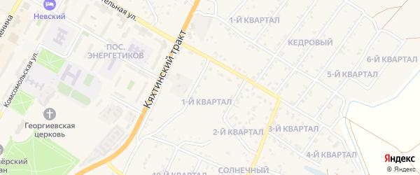 1-й квартал на карте поселка Тухума с номерами домов