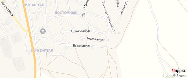 Ольховая улица на карте Восточного поселка с номерами домов