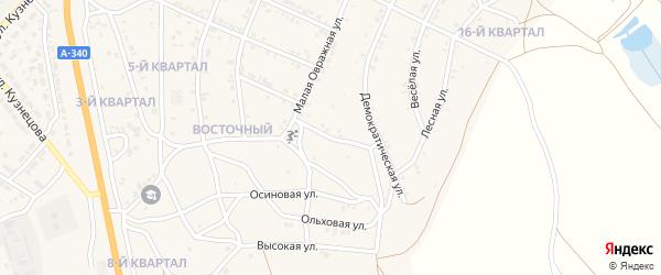 Овражный переулок на карте Восточного поселка с номерами домов