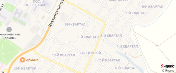 2-й квартал на карте Солнечного поселка с номерами домов