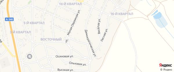 Демократическая улица на карте Восточного поселка с номерами домов