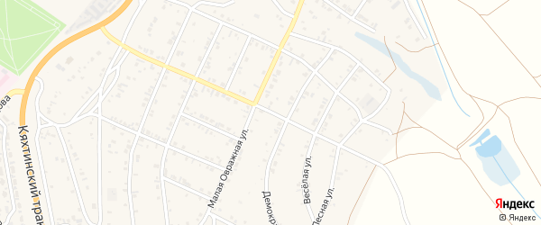 Большая Овражная улица на карте Восточного поселка с номерами домов
