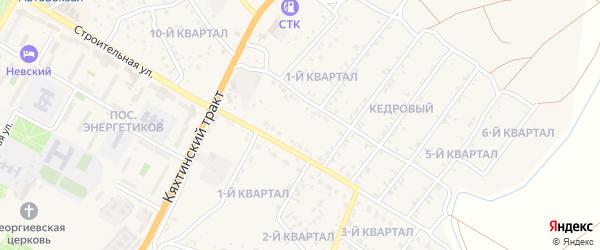1-й квартал на карте Кедрового поселка с номерами домов