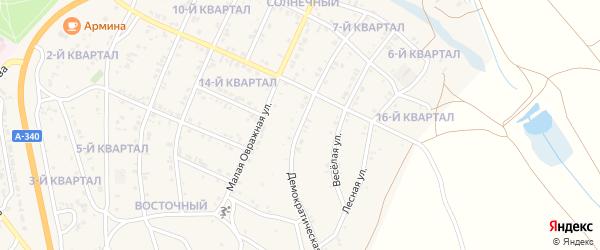 Большая Овражная улица на карте Гусиноозерска с номерами домов