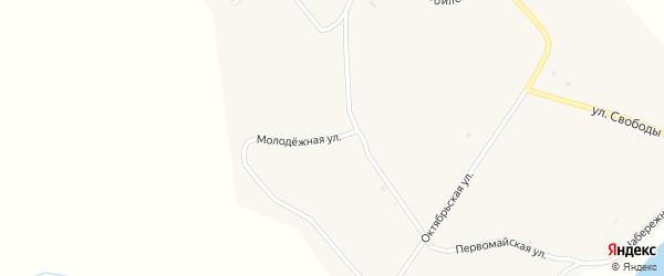 Молодежная улица на карте села Большое Колесово с номерами домов