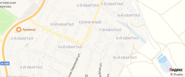 13-й квартал на карте Восточного поселка с номерами домов