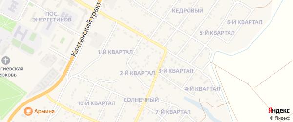 2-й квартал на карте Восточного поселка с номерами домов