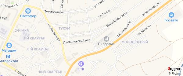 Измайловский переулок на карте Гусиноозерска с номерами домов