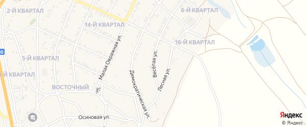 Веселая улица на карте Восточного поселка с номерами домов