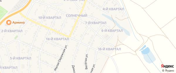14-й квартал на карте Солнечного поселка с номерами домов