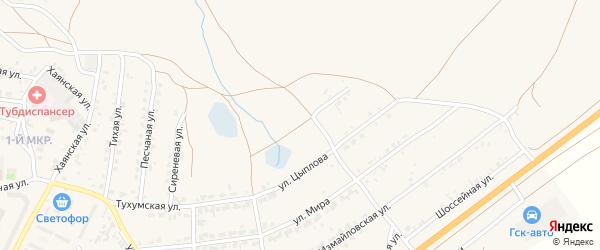 Глинная улица на карте поселка Тухума с номерами домов